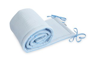 Bed Bumper Cotton-waffel Baby Blue