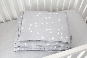 Bedding with filling Stars & Grey line
