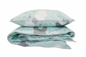 Junior bedding set Minty Puffs