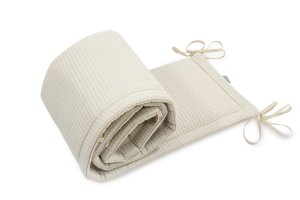 Bed Bumper Cotton-waffel Beige