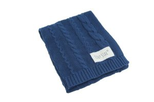 Cotton Blanket W Navy