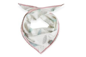 Bamboo Neckerchief Plumes & pink