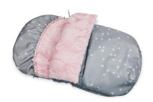 Stroller Bag  90cm Stars & Minky Fur Blush