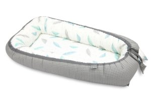 Bamboo Babycocoon Plumes & Grey