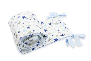Bed Bumper Blue Stars