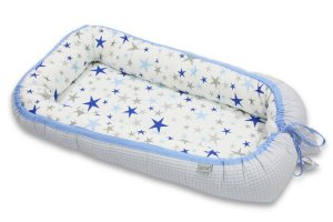 Babycocoon Cotton-waffel Baby Blue & Blue Stars