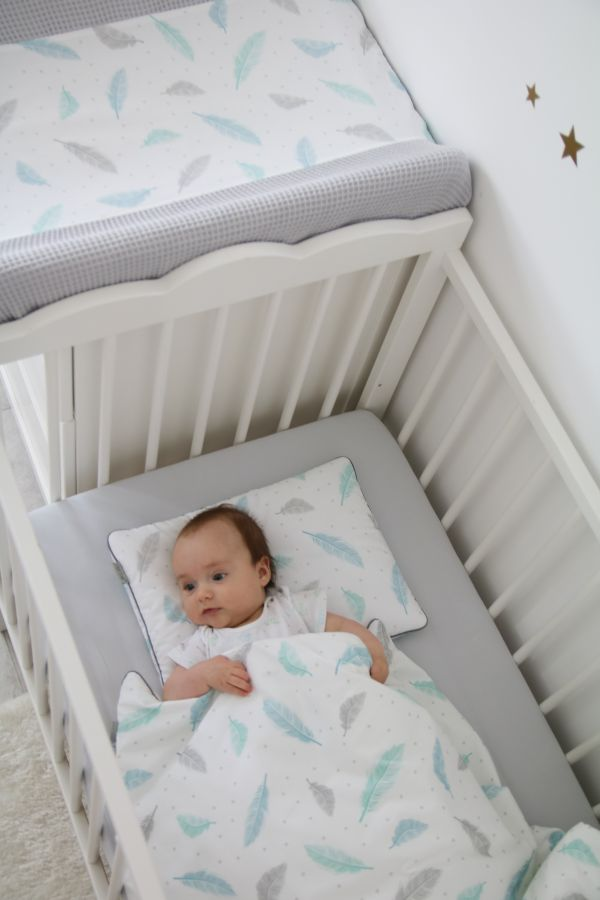 cot bedding with filling